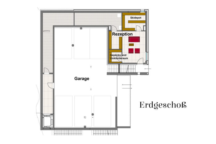 Appartements LUNA, Flachau - Erdgeschoß