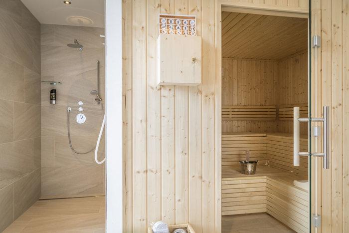 Sauna, Dachterrasse - Appartements LUNA in Flachau