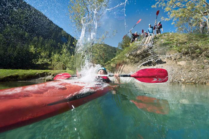 Kajak im Sommerurlaub in Flachau, Salzburger Land
